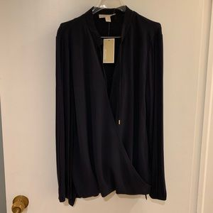 NWT Michael Kors Navy Blue Blouse
